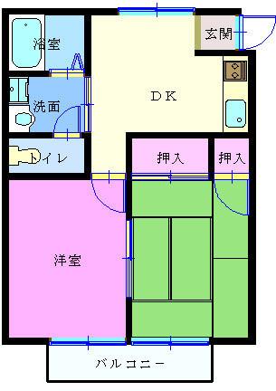 メゾンひかりⅡ-201 間取り